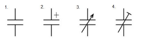 コンデンサ(キャパシタ)の回路記号