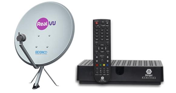 Dish-antenna(ディシュ・アンテナ)・Set-Top Box(STB:セット・トップ・ボックス)