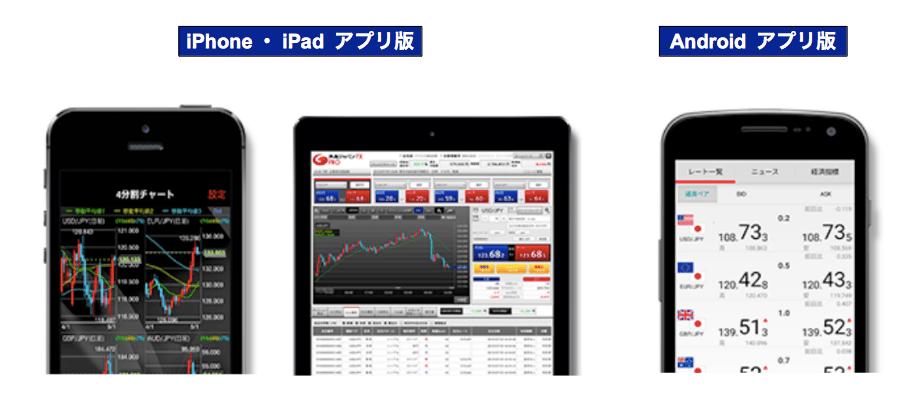 外為ジャパン・取引ツール・スマホ用アプリ